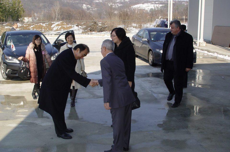 Посрещане на японски посланник