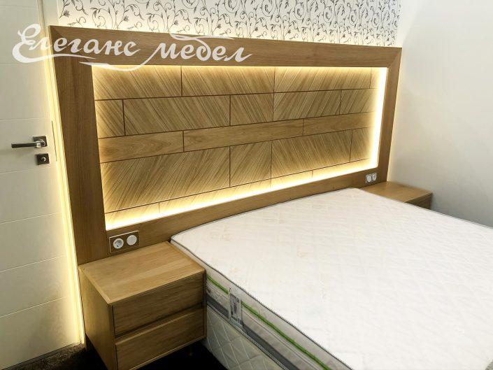 Хотелски спален комплект дъб