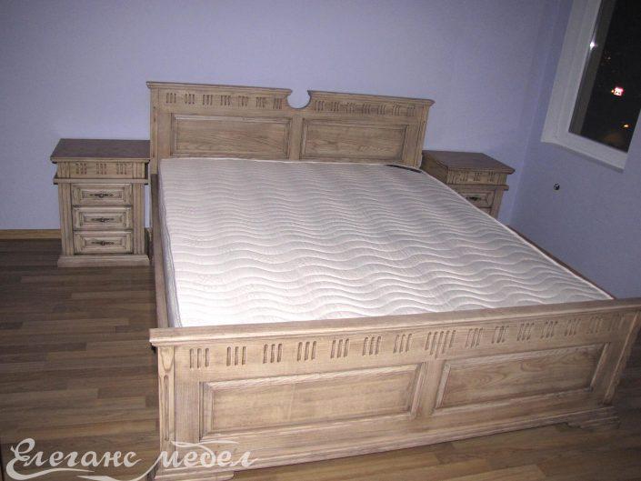 Мебели за спалня,спално обзавеждане,спалня от масив,легло от масивна дървесина,ясен