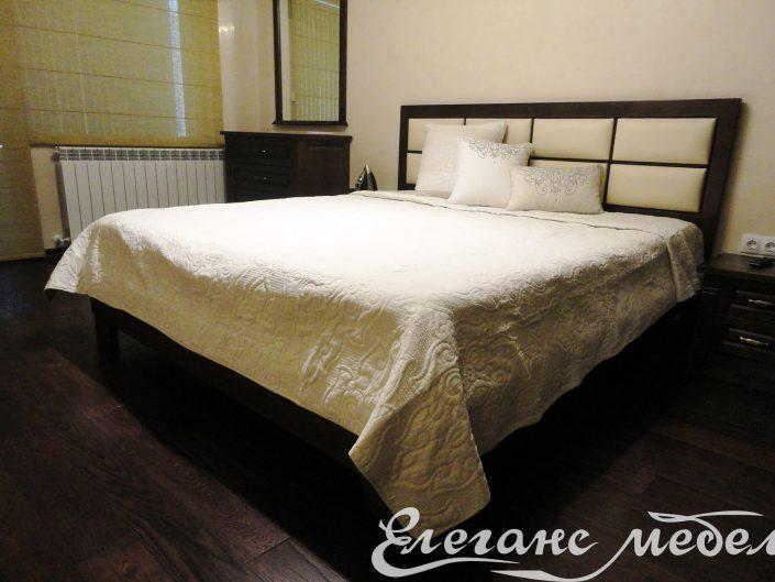 мебели за спалня,легло с дамаска,спалня от масив,легло от масивна дървесина,скрин и огледало